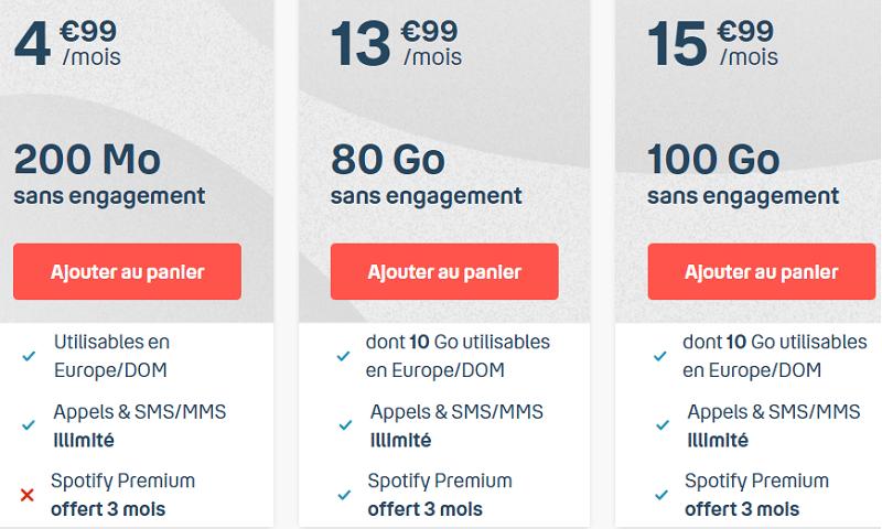forfait b and you 100 go sans engagement en promo à 15.99 € / mois