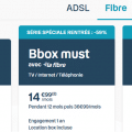 fibre pas cher : la bbox must dès 14.99 euros par mois