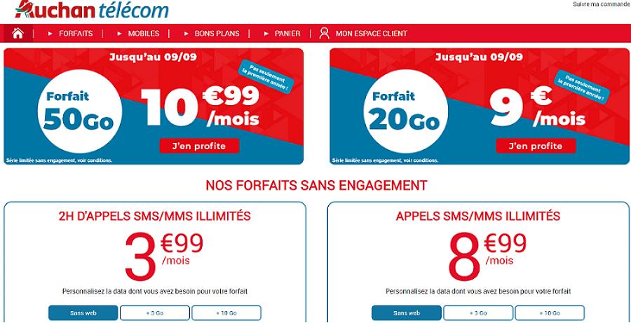 forfait auchan 50 go en promotion