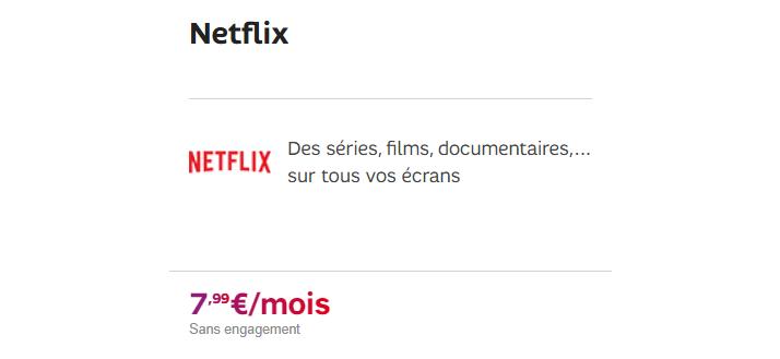 Netflix SFR : Prix et caractéristiques de l'abonnement avec box sfr