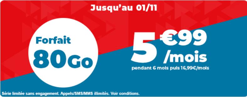 forfait mobile auchan 80 go en promo