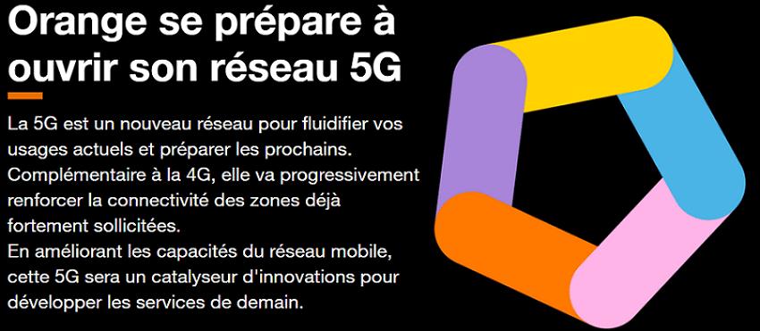 réseau 5g d'orange dès décembre 2020