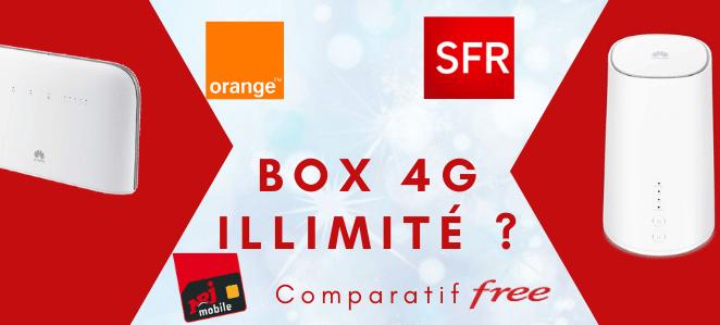 Box 4g illimité : Comparatif de prix, avis et caractéristiques des meilleures offres sans engagement