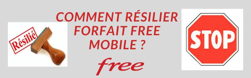 comment résilier forfait free en ligne