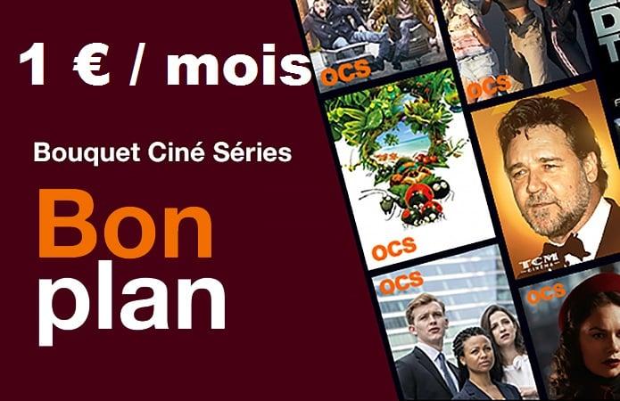 bouquet ciné séries orange en promotion à 1 euro