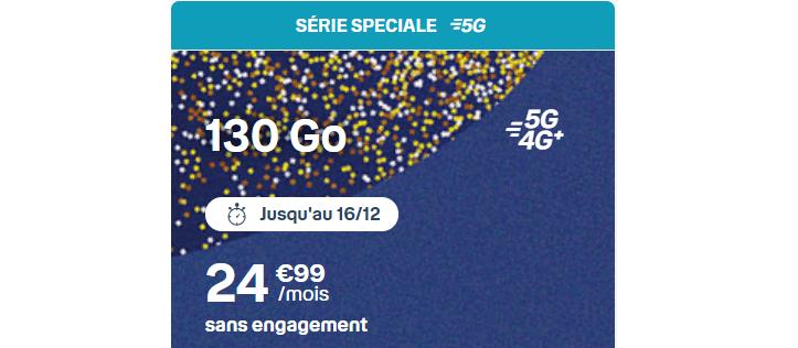 forfait b and you 5g avec 130 Go de data