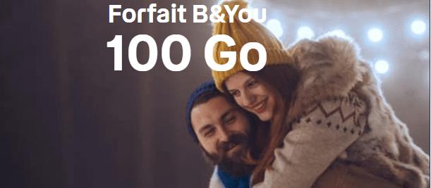 forfait b and you 100 go sans engagement en promotion