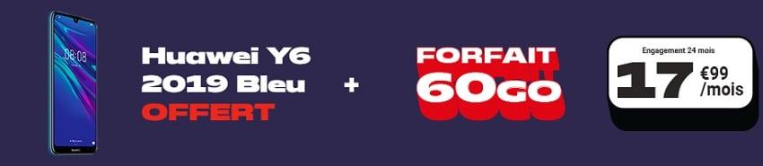 huawei y6 2019 avec forfait nrj mobile 60 Go
