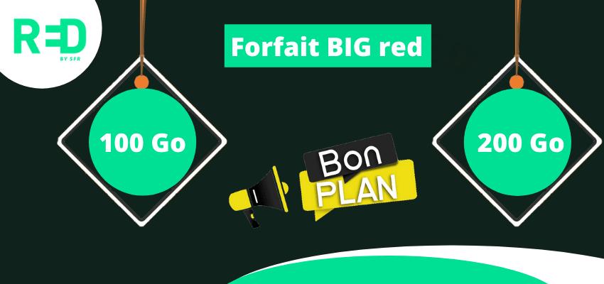 forfait big red 100 go et 200 go en promotion