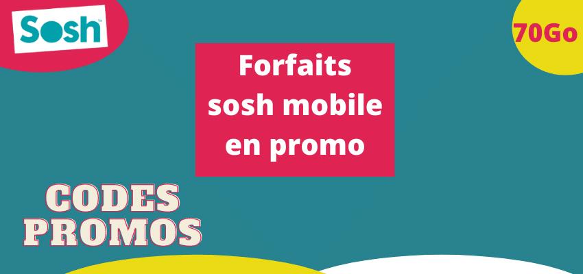 Code promo sosh sur les forfaits sans engagement et smartphones