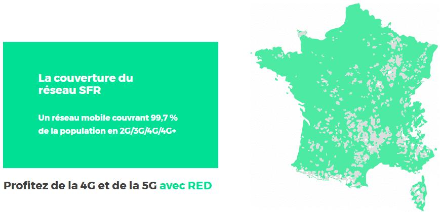carte couverture réseau SFR