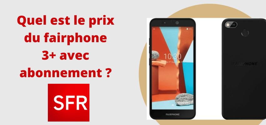 fairphone 3+ avec forfait sfr