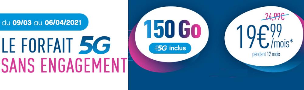 forfait coriolis 5G en promotion sans engagement