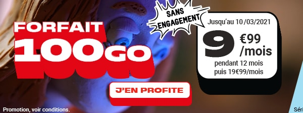 forfait nrj mobile 100 Go sans engagement en promotion à 9.99 €