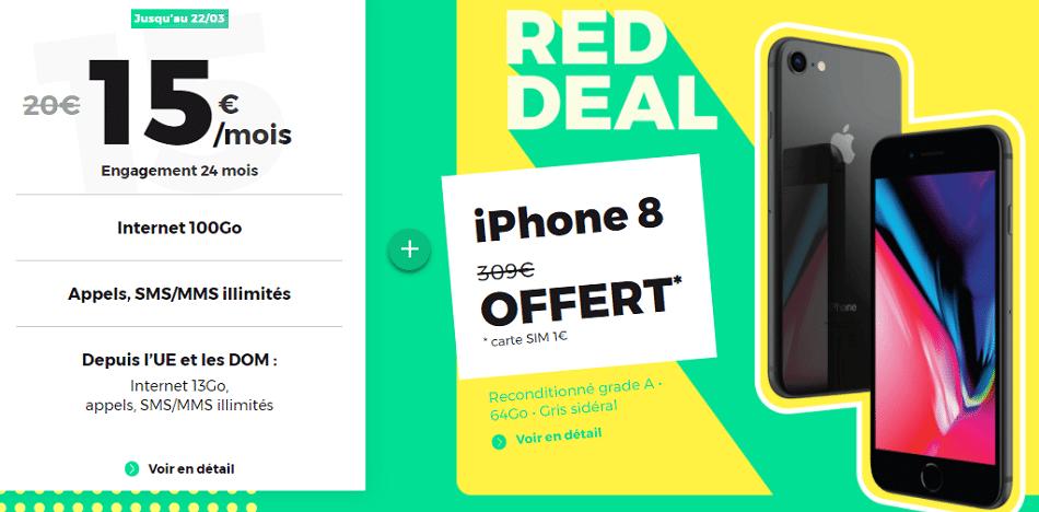 red by sfr 100go avec iphone 8 gratuit