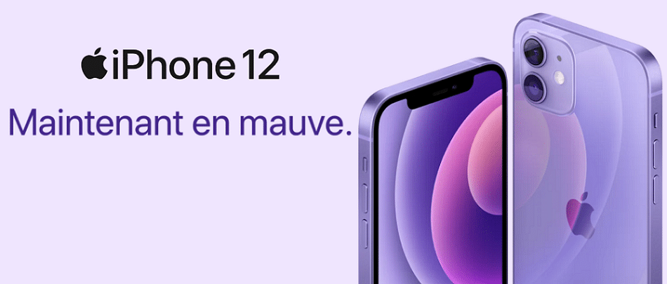 iphone 12 mauve pas cher avec forfait