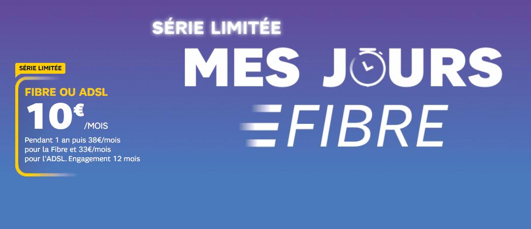 Box SFR ADSL ou fibre : Détails de la série limitée en promotion à 10 euros par mois