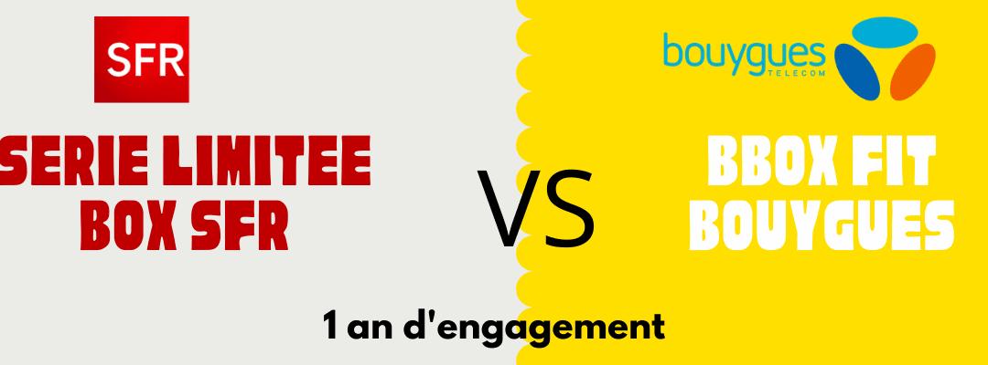 Comparatif box : Bbox FIT VS box sfr série limitée à 10 € par mois pendant 1 an