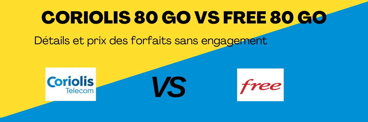 Free 80 Go VS coriolis 80 Go : Quel forfait sans engagement est meilleur ?