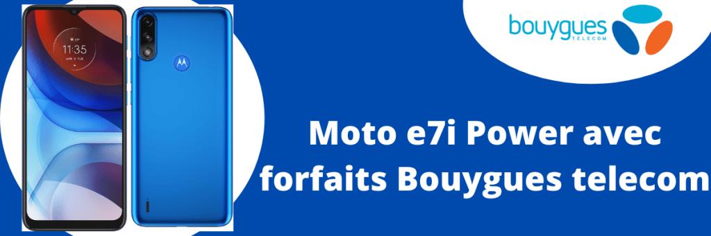 Motorola moto e7i power moins cher