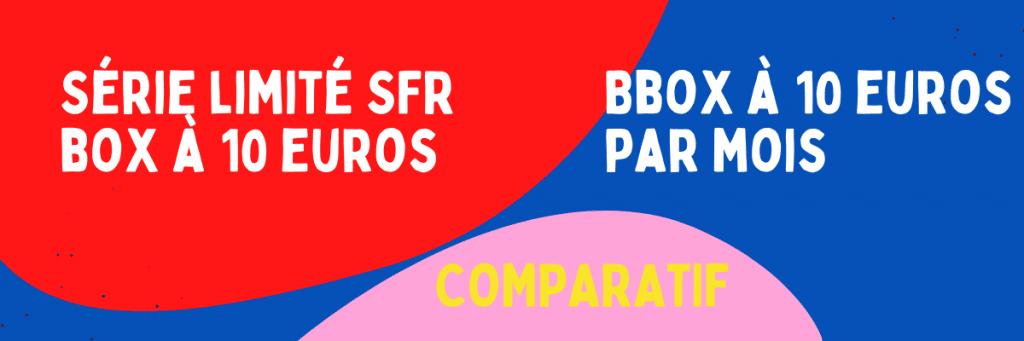 Bbox 10 euros comparatif avec série limitée sfr box