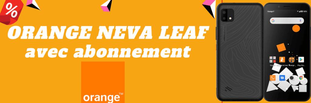 orange neva leaf moins cher avec forfait
